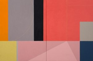 """Earth Measure Blues 17"" (2012), oil on linen, 36 x 54 in. (diptych)"
