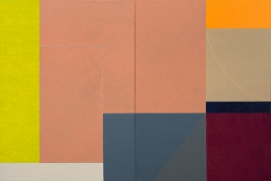 """Earth Measure Blues 18"" (2012), oil on linen, 40 x 60 in. (diptych)"