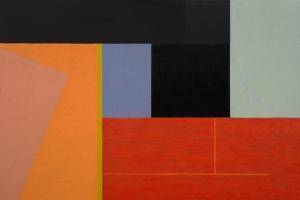 """""""Earth Measure Blues 19"""" (2013), oil on linen, 30 x 45 in."""