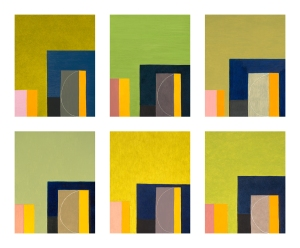 Blue Gate (6 panels of 16 total, each panel: 14x11 in.)